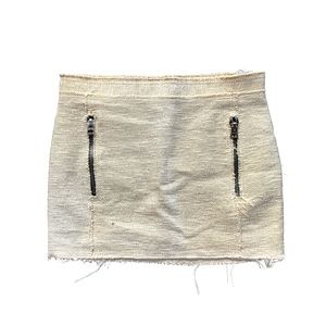 ACNE STUDIOS ICON RUSTIC LINEN MINI SKIRT